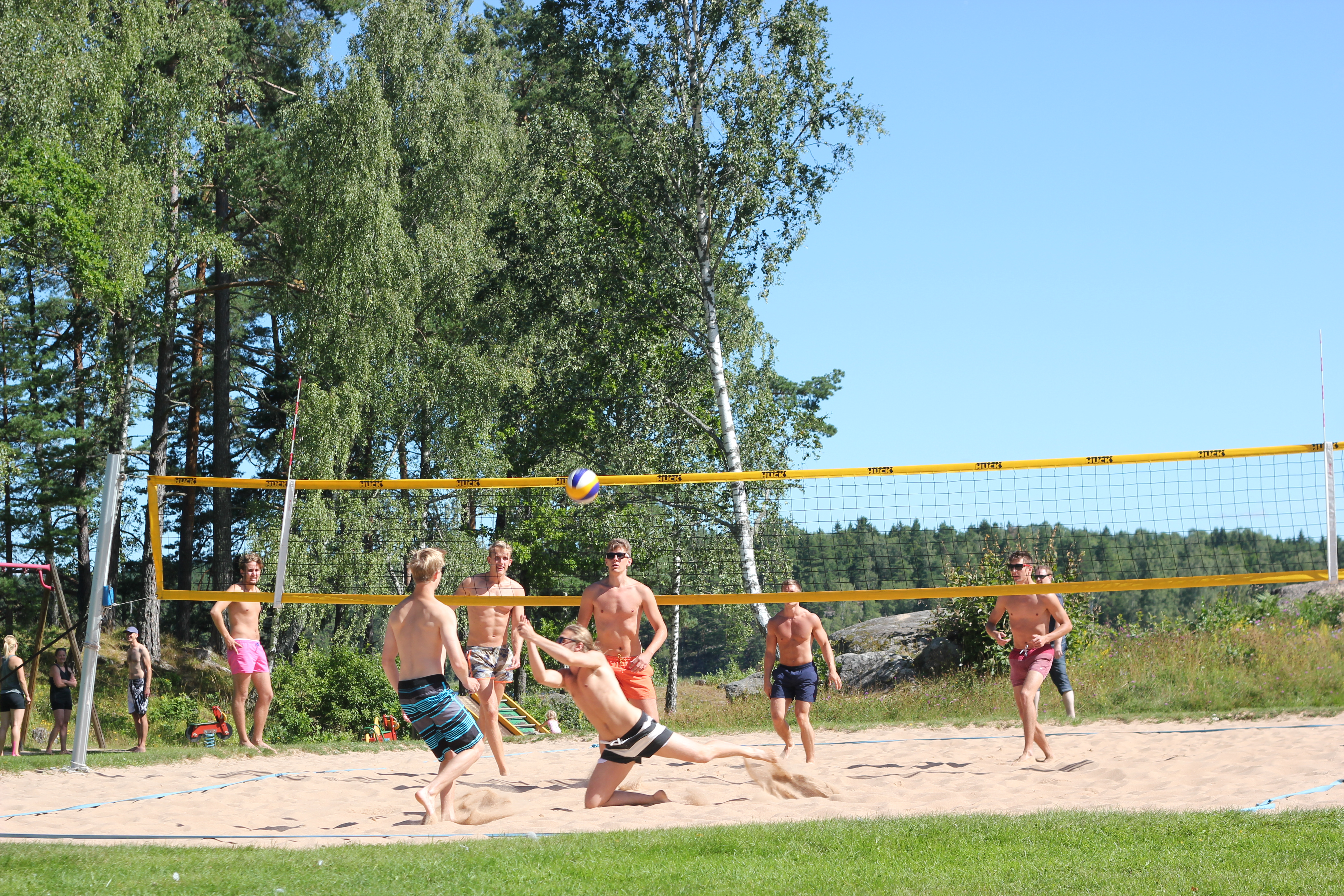Bönergården Café Bad Sommaröppet Volleyboll Sand Beachvolley